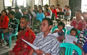 Pastor Yuda's primary congregation, which meets in the northern region of Kalimantan (the island popularly called Borneo). (Photo, caption courtesy FMI)