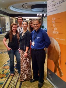 """Amir"" pauses for a group photo with the MNN team at the Missio Nexus Leadership Conference."
