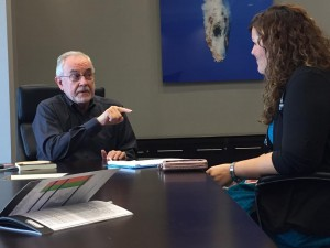 (Living Water International's Jerry Wiles sharing the Orality Network with MNN's Laurelle Terrero)