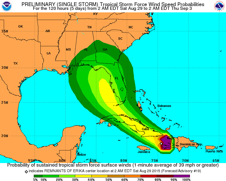 Tropical Storm Erika: a blessing in disguise