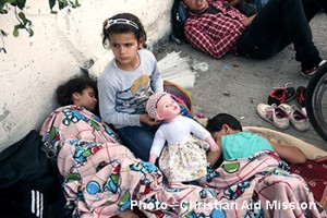 Syrian refugee children stuck in Istanbul, Turkey, after the government refused to allow them to board buses for Greece. (Photo courtesy Christian Aid Mission)