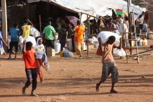 Eritrean Refugees in Ethiopia receive a package of humanitarian services. (Photo, caption credit: EU/ECHO/Malini Morzaria)