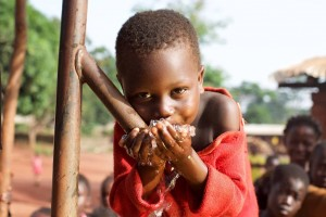 Approximately 500,000 people enjoy clean water thanks to Water for Good.  (Image courtesy Water for Good)