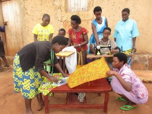 Mukarugwiza Teaching other women how to sew. Expedition Church in Payson partners with the community of Rwimbogo in Rwanda. Karen Randau's interview with people from Expedition church.