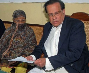 (Photo of Asia Bibi and her lawyer courtesy Open Doors USA)