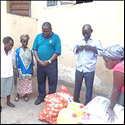 Missionaries in Sierra Leone bless disease victims