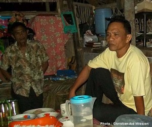 "Feliciano Lasawang, ""Pastor Cris,"" at home a month before he was killed. (Photo and caption courtesy of Christian Aid Mission)"