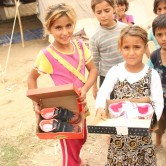 With help from Christian Aid Mission, an indigenous ministry in Turkey distributed food, vitamins for the elderly, and nearly 300 pairs of shoes in three camps for refugees who fled from ISIS.  (Photo, caption courtesy Christian Aid Mission)