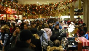 Macy's at Christmas-time (Photo, cropped, courtesy of Eric Mueller via Flickr)