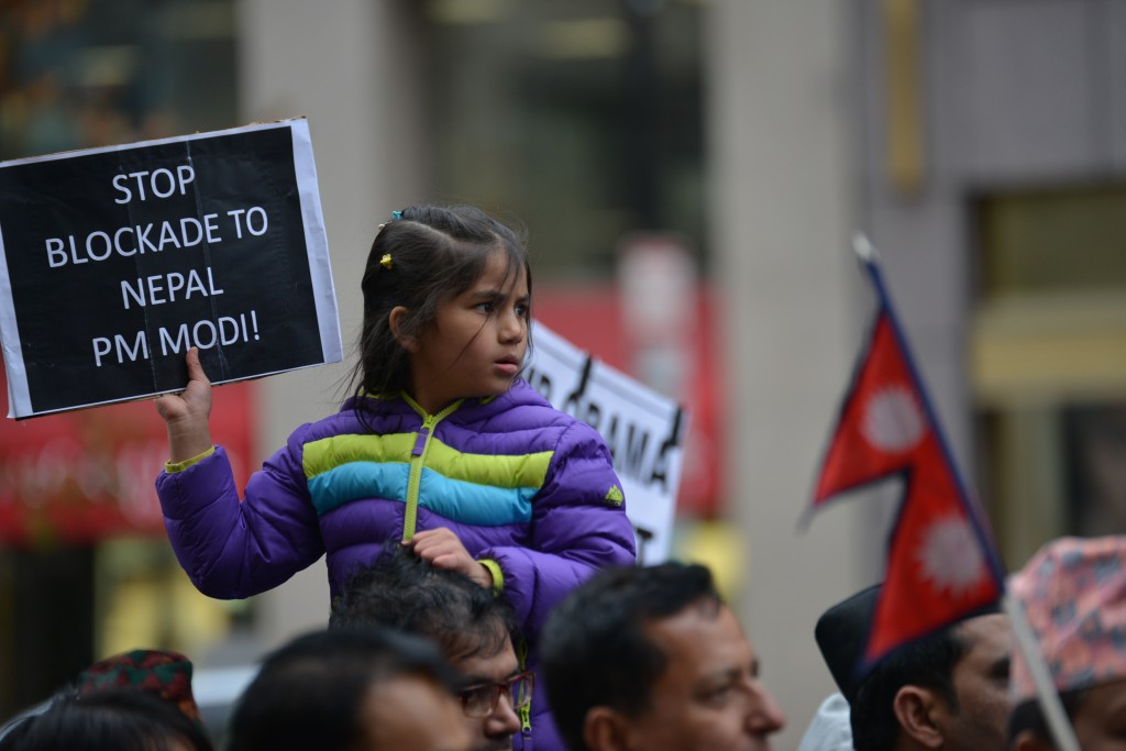 Nepal protests India blockade