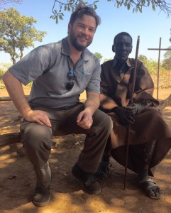 Matt Ellingson poses for a picture with one of the village elders. (Photo courtesy World Concern)