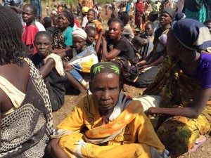 Food distribution in Wau. (Photo courtesy World Concern)