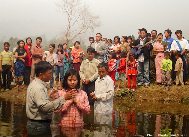 CAM_2010 baptism of new believer in Burma