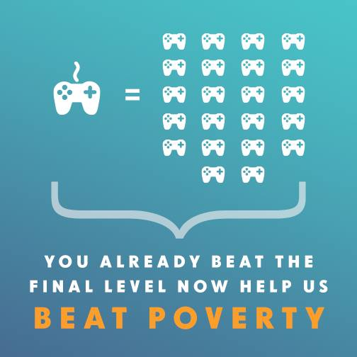 You beat the game, now help beat poverty