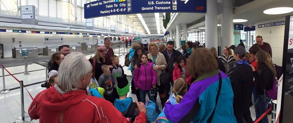 Ukrainian children experience a loving family