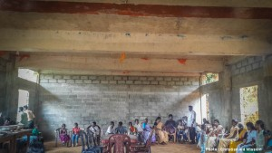 Christians make use of an unfinished building in an undisclosed town in central Sri Lanka, where a native ministry is training indigenous missionaries who are overcoming entrenched belief in malevolent spirits, along with Buddhist and Hindu traditions, to present the Gospel. (Photo, caption courtesy Christian Aid mission)