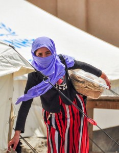 An Iraqi refugee displaced by the self-proclaimed Islamic State (ISIS). (Photo, caption courtesy of VOM via Facebook)
