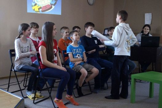 Kids learn about God in OM camp