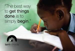 (Photo courtesy Tent Schools International)