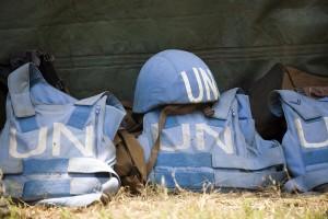Helmet and Flack Jackets of UN Peacekeepers. (UN Photo/Marie Frechon.)