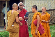 buddhist monks in myanmar