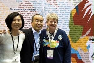 (Photo courtesy InterVarsity/Urbana: Tom Lin (c), Ruth Hubbard (r))