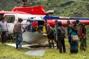 Nepal's remote villages need helicopters to deliver much-needed building material.