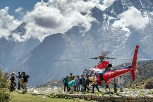Local helicopter operators work with MAF to provide transportation support to the remote villages of Nepal.