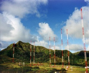 The transmission towers used to send the data package over 3,000 miles for the first time ever! (Photo courtesy of FCBH)