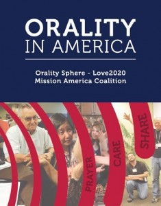 """Cover art of """"Orality in America"""" by Ricki Gidoonal."""