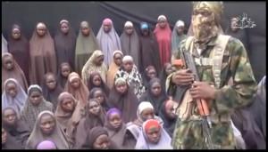 Video released by Boko Haram last week featuring Chibok girls (youtube.com snapshot)