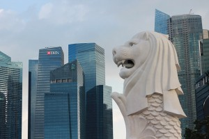 """Singapore is also known as """"The Lion City"""". The Merlion is a national icon being half lion, half fish."""