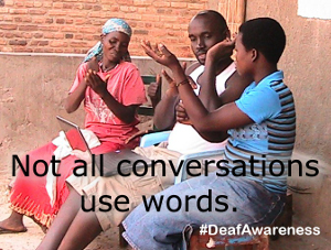 deaf awareness graphic