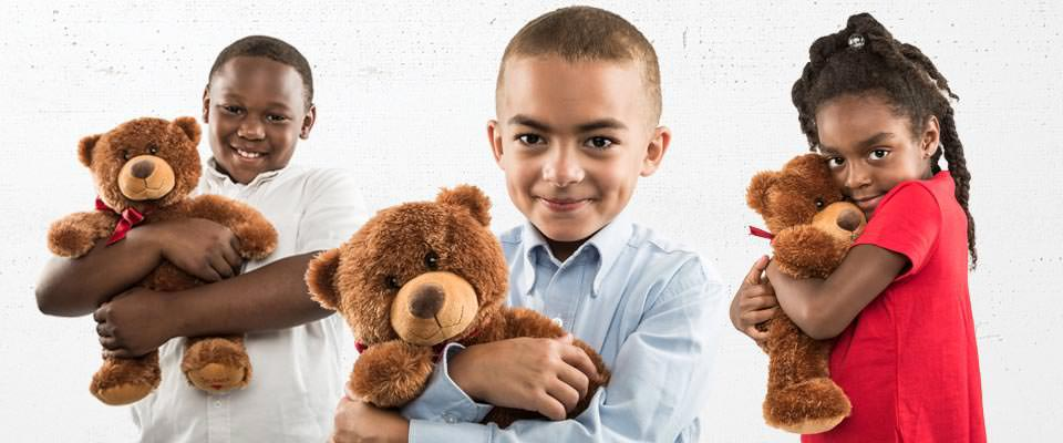 Barnabas bear give away lifts children's hearts