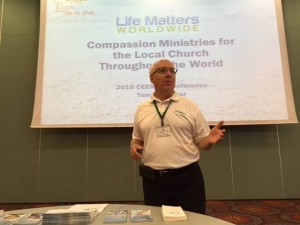 Tom Lothamer leading a conference workshop for missionaries in Slovenia. (Photo courtesy of Life Matters Worldwide via Facebook)