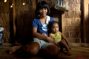 Philippines mother and daughter