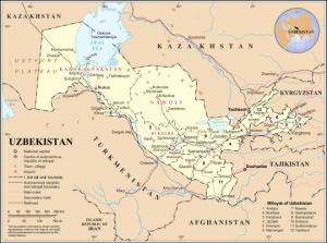 (Uzbekistan map courtesy Wikipedia)