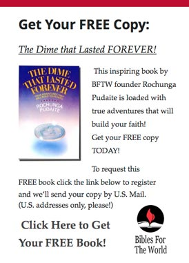 Bibles For The World FREE book offer!