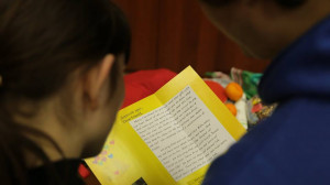 You can write a letter with the stocking you sponsor (photo courtesy of SOAR International)