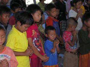 The Karen at a refugee camp in Thailand. (Photo courtesy of Vision Beyond Borders)
