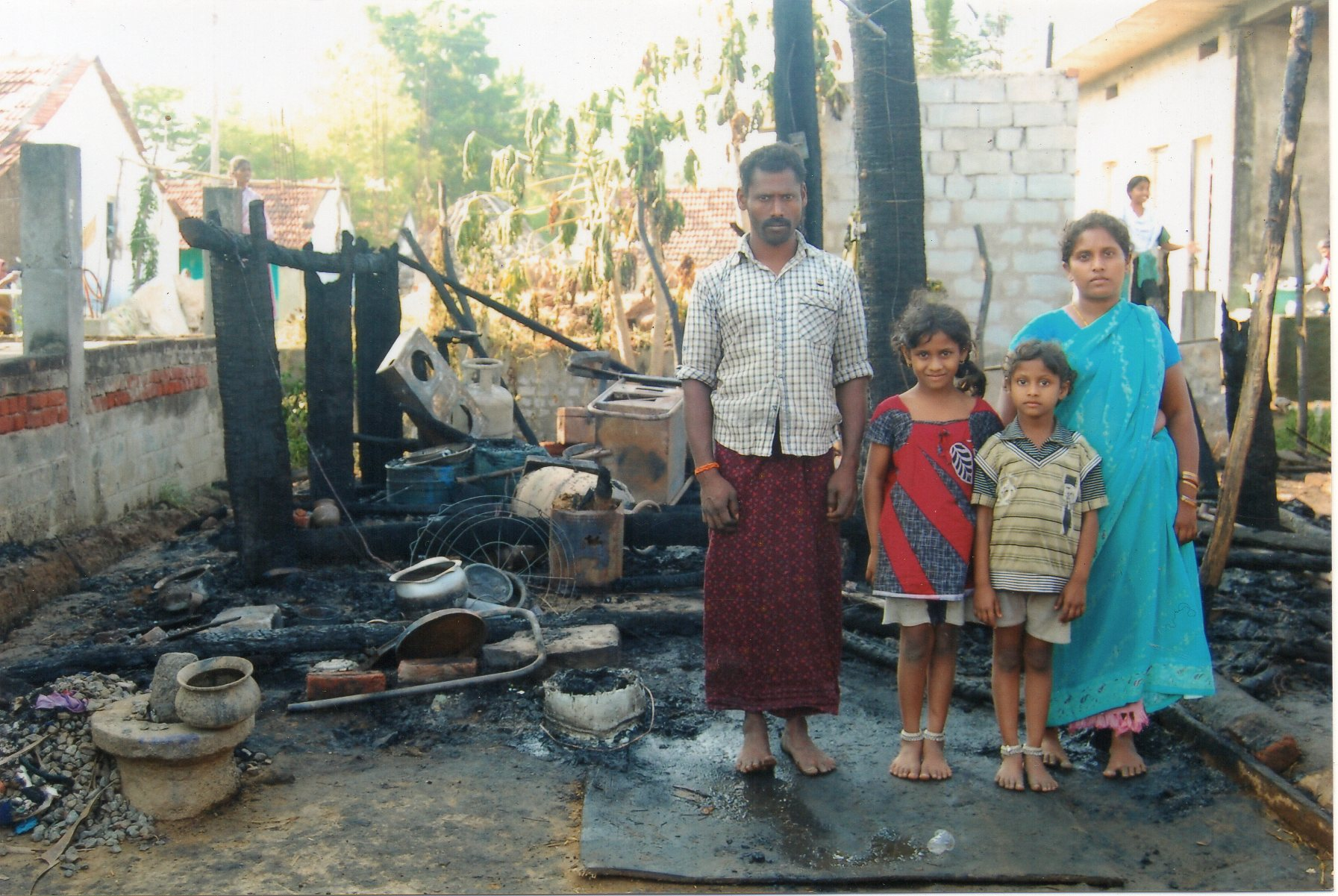 Fire destroys two homes in two Indian villages