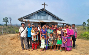 (Photo Courtesy FMI for MNN use.) Rural church in Bangladesh.