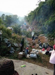 An IDP camp was attacked by the Burmese Army earlier this month (Photo courtesy of VBB/contact).