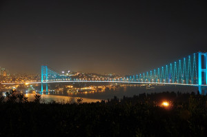 One of Istanbul, Turkey's Bosphorus Bridges.