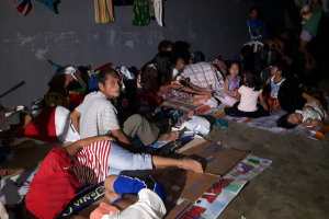A Filipino evacuation center for those displaced by the floods and landslides. (Photo courtesy of World Mission)