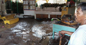 Water damage from flooding in the Philippines. (Photo courtesy of World Mission)