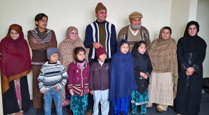 Habib Family: Habib (center, back row) shared the Gospel with Muslim family members during the summer of 2016, and they immediately threw him off a building in order to kill him. Habib survived, and his steadfast conviction in Jesus and lack of bittnerness toward his persecuters endeared them them to Jesus in subsequent months. In January 2017, many in the family were baptized.