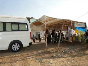 Mobile medical clinic making its way to refugees across northern Iraq. (Photo courtesy of Christian Aid Mission via Facebook)