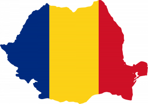 Romanian flag on the country. (Image courtesy of Wikimedia Commons)