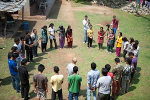 Nepali Christians worshipping together (Photo courtesy of Global Disciples)